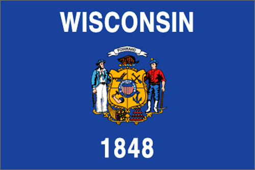 [Image of The Wisconsin State Flag]