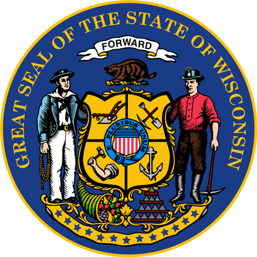 [Image of The Wisconsin State Seal]