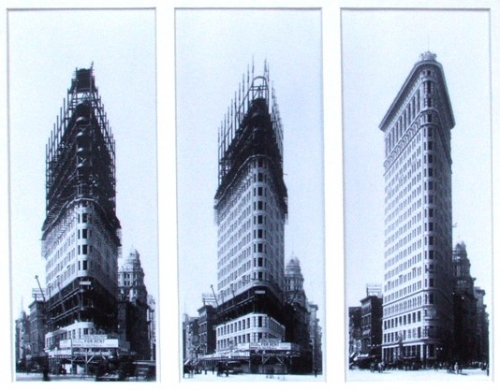 Flatiron Building Construction, New York Times - Library of Congress, 1901-1902 crop