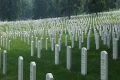 Tombstones at Arlington National Cemetery.